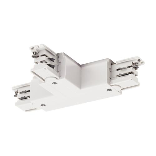 Marbel 1001388 SLV 3Ph | S-TRACK, T-коннектор с разъёмом питания, GND справа, белый RAL9016 (ex 175141)