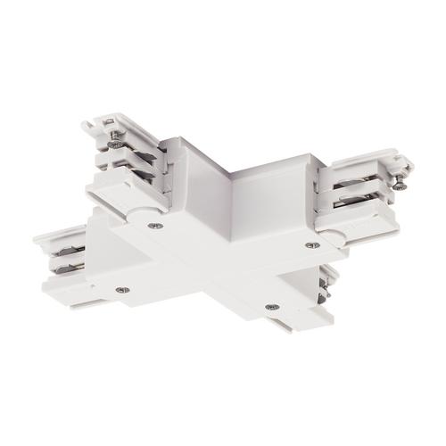 Marbel 1001389 SLV 3Ph | S-TRACK, X-коннектор с разъёмом питания, 16А макс., белый RAL9016 (ex 175151)
