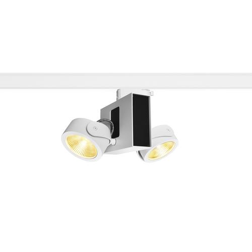 Marbel 1001420 SLV 3Ph, TEC KALU 2 LED светильник накладной 31Вт с LED 3000К, 1900лм, 2х 60°, белый/ черный
