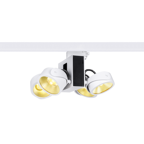 Marbel 1001422 SLV 3Ph, TEC KALU 4 LED светильник накладной 60Вт с LED 3000К, 3800лм, 4х 60°, белый/ черный