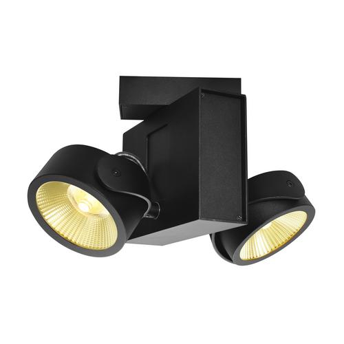 Marbel 1001423 SLV TEC KALU 2 LED светильник накладной 31Вт с LED 3000К, 1900лм, 2х 60°, черный
