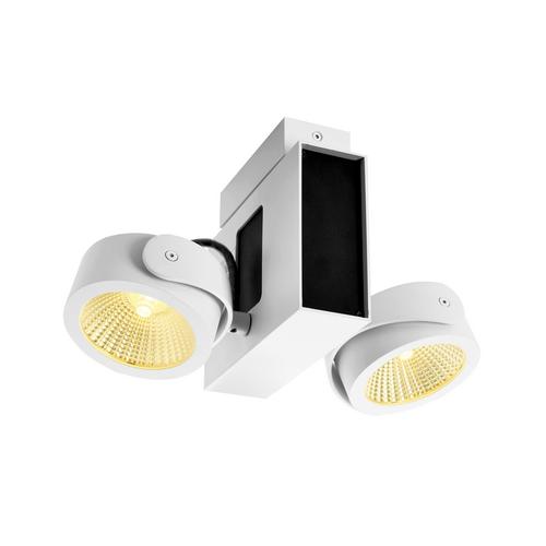 Marbel 1001424 SLV TEC KALU 2 LED светильник накладной 31Вт с LED 3000К, 1900лм, 2х 60°, белый/ черный