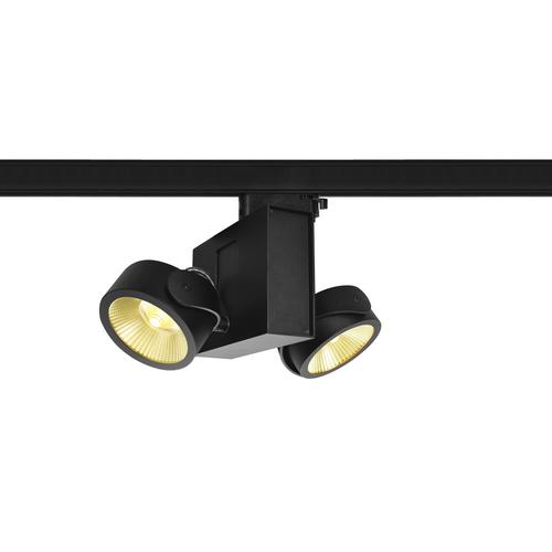 Marbel 1001427 SLV 3Ph, TEC KALU 2 LED светильник накладной 31Вт с LED 3000К, 1900лм, 2х 24°, черный