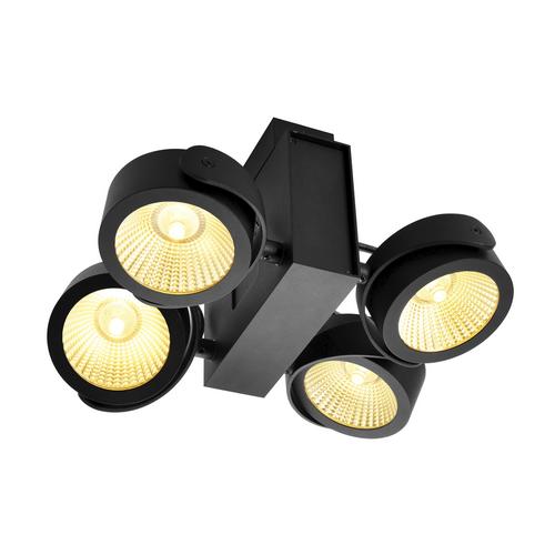 Marbel 1001433 SLV TEC KALU 4 LED светильник накладной 60Вт с LED 3000К, 3800лм, 4х 24°, черный