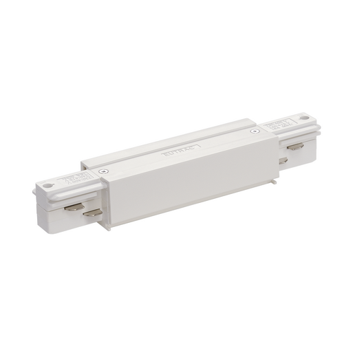 Marbel 1001517 SLV 3Ph | EUTRAC®, коннектор прямой внешний с разъёмами питания, 16А макс., белый RAL9016 (e