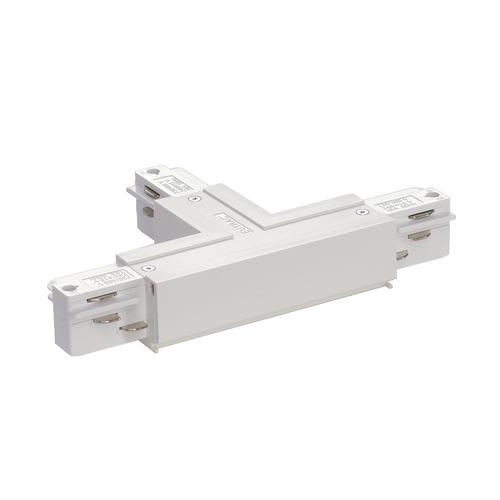 Marbel 1001519 SLV 3Ph   EUTRAC®, T-коннектор с разъёмом питания, GND справа, 16A макс., белый RAL9016 (ex