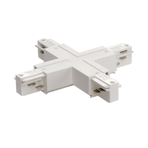 Marbel 1001522 SLV 3Ph | EUTRAC®, X-коннектор с разъёмами питания для 2х контуров, 16А макс., белый RAL9016