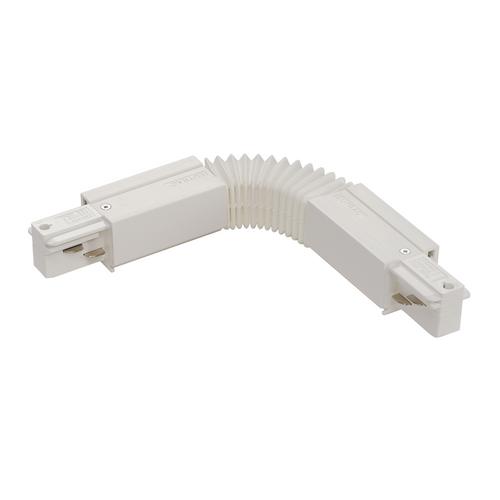 Marbel 1001524 SLV 3Ph | EUTRAC®, коннектор гибкий с разъёмами питания, 16А макс., белый RAL9016 (ex 145581