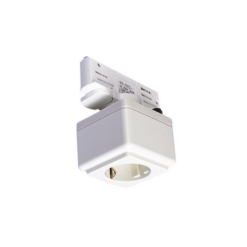 Marbel 1001525 SLV 3Ph | EUTRAC®, розетка Schuko, 6.3А макс., белый RAL9016 (ex 145701)