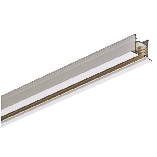 Marbel 1001532 SLV 3Ph | EUTRAC® R шинопровод встраиваемый 3м, трехканальный, 230В, 16А макс., белый RAL901