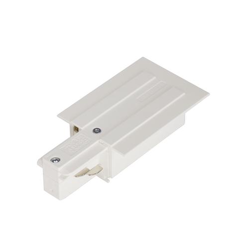 Marbel 1001533 SLV 3Ph | EUTRAC® R, разъём питания, 16А макс., GND слева, белый RAL9016 (ex 145541)