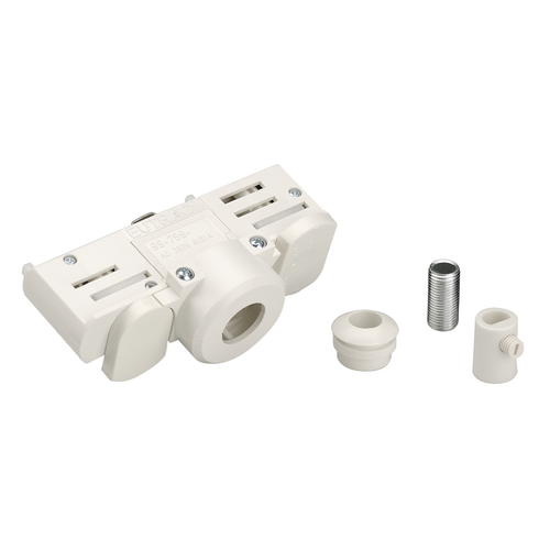 Marbel 1001542 SLV 3Ph   EUTRAC®, адаптер электрический, 10А макс., 5кг макс., белый RAL9016 (ex 145991)