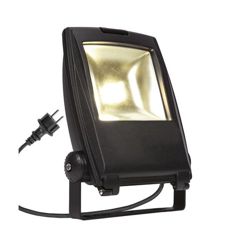 Marbel 1001643 SLV FLOOD LIGHT 25 светильник IP65 32Вт с LED 3000К, 2200лм, 90°, кабель 2м с вилкой, черный