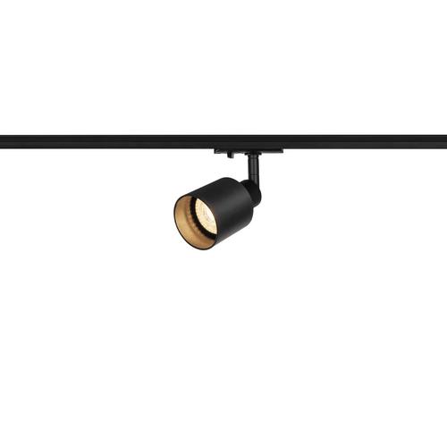 Marbel 1001868 SLV 1PHASE-TRACK, PURI GLASS светильник для лампы GU10 50Вт макс., черный/ стекло черное мат