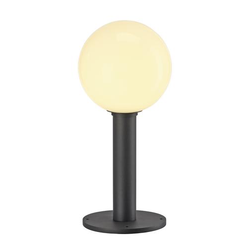 Marbel 1002000 SLV GLOO PURE 44 светильник ландшафт. IP44 для лампы E27 23Вт макс., антрацит/ стекло белое
