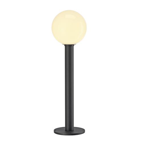 Marbel 1002001 SLV GLOO PURE 70 светильник ландшафт. IP44 для лампы E27 23Вт макс., антрацит/ стекло белое