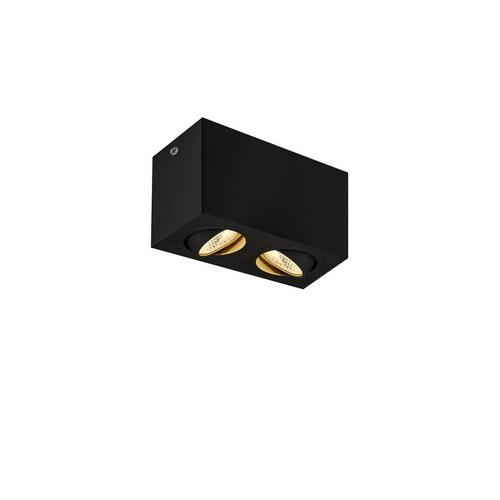 Marbel 1002003 SLV TRILEDO DOUBLE LED CL светильник потолочный 16Вт с LED 3000К, 1340лм, 2x 36°, черный
