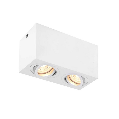 Marbel 1002006 SLV TRILEDO DOUBLE GU10 CL светильник потолочный для 2-х ламп GU10 по 50Вт макс., белый