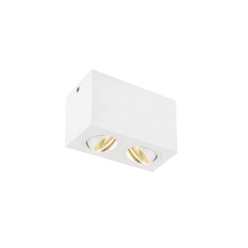 Marbel 1002008 SLV TRILEDO DOUBLE LED CL светильник потолочный 16Вт с LED 3000К, 1340лм, 2x 36°, белый