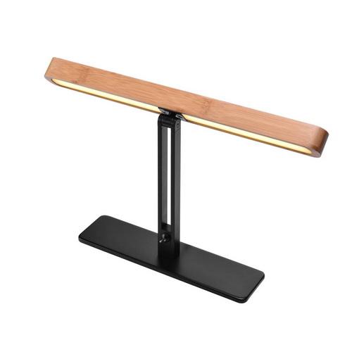 Marbel 1002068 SLV VINCELLI D TL светильник настольный 12Вт с LED 2700К, 500лм, черный / бамбук светлый