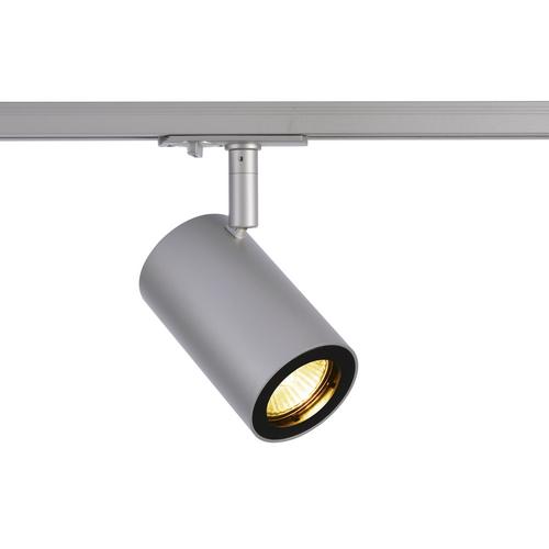 Marbel 1002113 SLV 1PHASE-TRACK, ENOLA_B SPOT светильник для лампы GU10 50Вт макс., серебристый/ черный