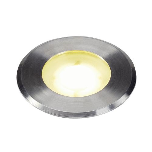 Marbel 1002188 SLV DASAR® FLAT 80 светильник встраиваемый IP67 4.3Вт c LED 4000К, 140лм, 125°, сталь
