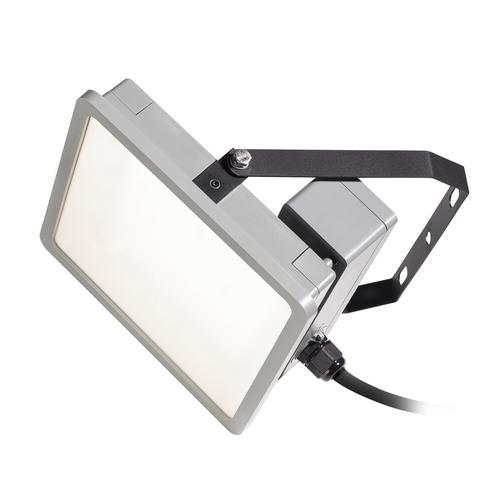 Marbel 1002195 SLV ALMINO SINGLE светильник на скобе IP65 45Вт c LED 4000K, 5500лм, 50°, UGR<19, серебристы
