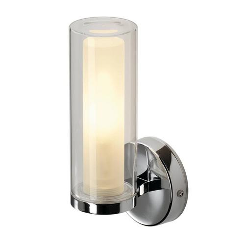 Marbel 1002228 SLV WL 105 светильник настенный IP44 для лампы C35 E14 40Вт макс., хром/ стекло частично мат