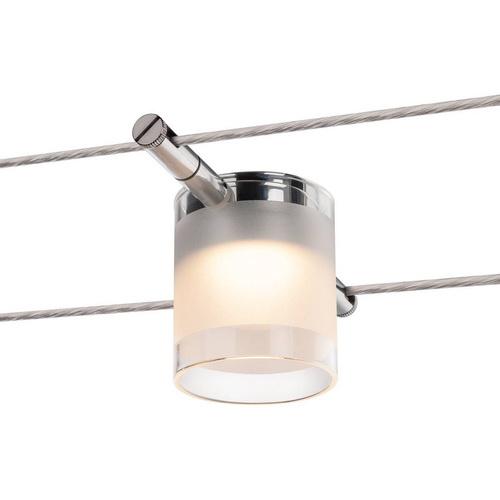 Marbel 1002690 SLV TENSEO, COMET светильник 12В AC 6.3Вт с LED 2700К, 410лм, хром / стекло частично матовое
