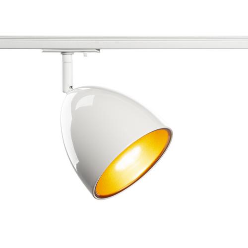 Marbel 1002874 SLV 1PHASE-TRACK, PARA CONE 14 светильник для лампы GU10 25Вт макс., белый/ золото