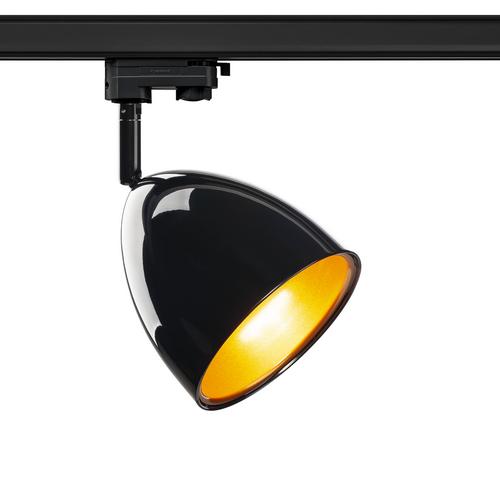 Marbel 1002876 SLV 3Ph, PARA CONE 14 светильник для лампы GU10 25Вт макс., черный/ золото