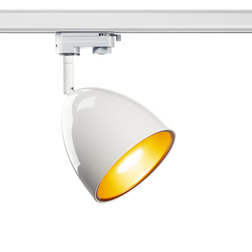 Marbel 1002877 SLV 3Ph, PARA CONE 14 светильник для лампы GU10 25Вт макс., белый/ золото