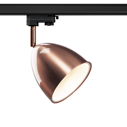 Marbel 1002878 SLV 3Ph, PARA CONE 14 светильник для лампы GU10 25Вт макс., медь/ белый