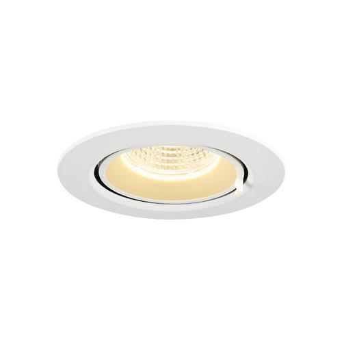Marbel 1002879 SLV GIMBLE IN 68 светильник встраиваемый 350мА 6Вт с LED 3000K, 520лм, 36°, матовый белый