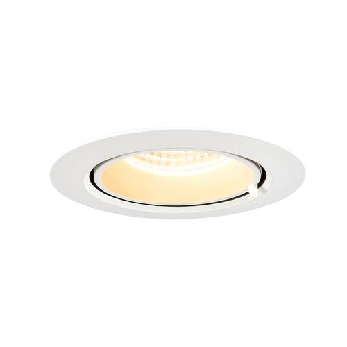 Marbel 1002880 SLV GIMBLE IN 100 светильник встраиваемый 350мА 13Вт с LED 3000K, 990лм, 36°, матовый белый