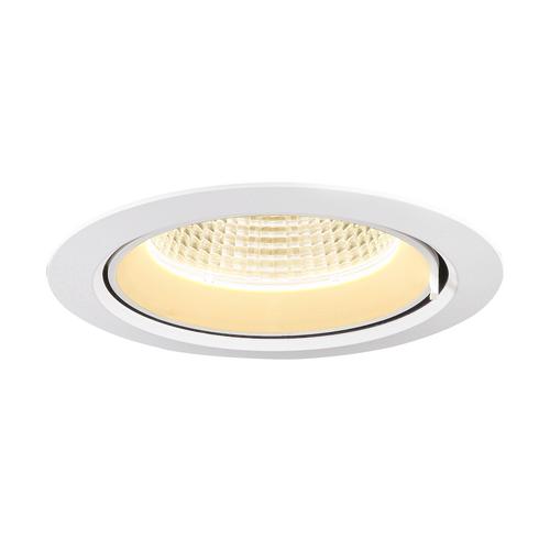 Marbel 1002881 SLV GIMBLE IN 175 светильник встраиваемый 1000мА 38Вт с LED 3000K, 3340лм, 40°, матовый белы