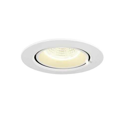Marbel 1002885 SLV GIMBLE IN 68 светильник встраиваемый 350мА 6Вт с LED 4000K, 560лм, 36°, матовый белый