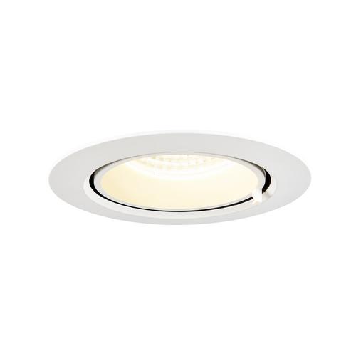 Marbel 1002886 SLV GIMBLE IN 100 светильник встраиваемый 350мА 13Вт с LED 4000K, 1140лм, 36°, матовый белый