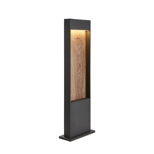 Marbel 1002957 SLV FLATT 65 светильник напольный IP65 с LED 9,7Вт, 3000/4000K, антрацит/коричневый