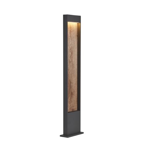 Marbel 1002959 SLV FLATT 100 светильник напольный IP65 с LED 9,7Вт, 3000/4000K, антрацит/коричневый