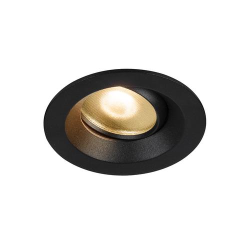 Marbel 1003036 SLV DINGILO светильник встраиваемый IP44/20 4.4Вт с LED 2700К, 330лм, 40°, CRI>90, с БП, чер