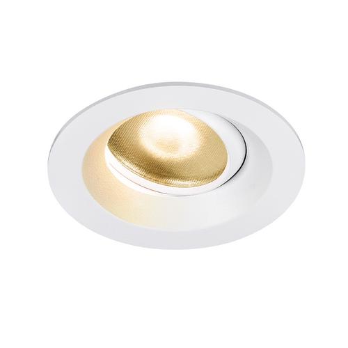 Marbel 1003037 SLV DINGILO светильник встраиваемый IP44/20 4.4Вт с LED 2700К, 330лм, 40°, CRI>90, с БП, бел
