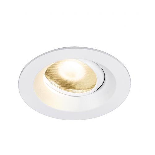 Marbel 1003039 SLV DINGILO светильник встраиваемый IP44/20 4.4Вт с LED 3000К, 330лм, 40°, CRI>90, с БП, бел