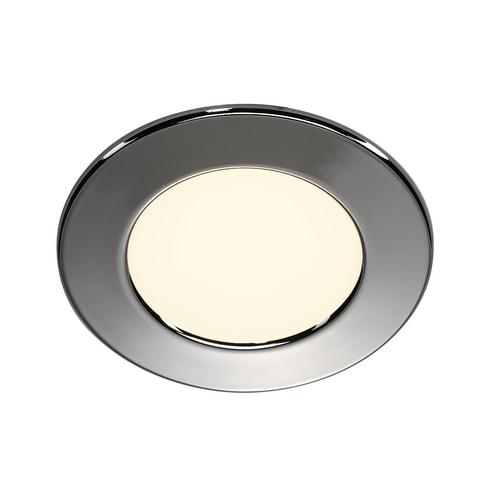 Marbel 112162 SLV DL 126 LED светильник встраиваемый 12В DC 2.8Вт с LED 2700К, 160лм, 90°, хром