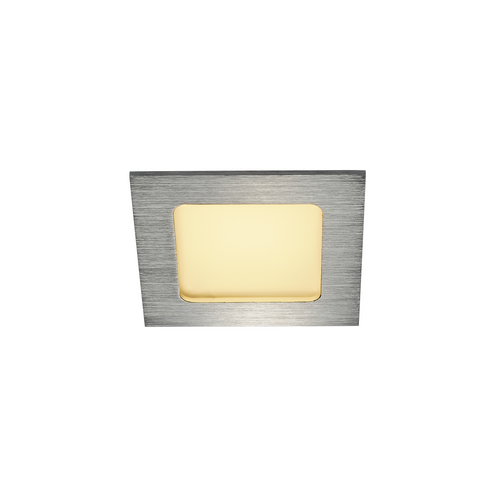 Marbel 112726 SLV FRAME BASIC LED SET светильник встраиваемый 9.4Вт с LED 3000К, 470лм, 90°, с БП, серебрис