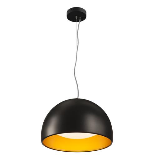 Marbel 133887 SLV BELA 40 светильник подвесной 24Вт с LED 3000К, 1350лм, черный/ золотой