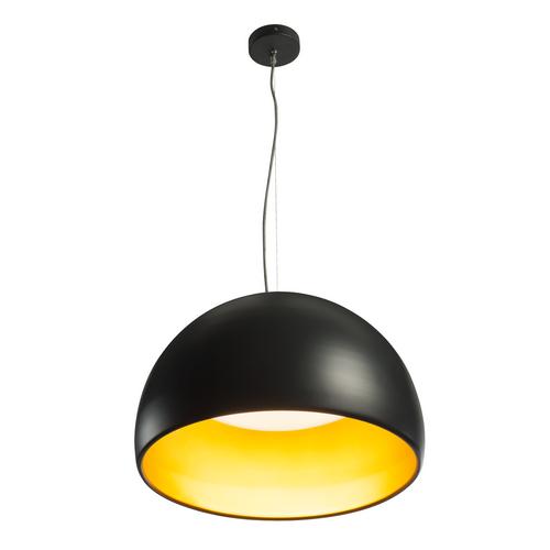 Marbel 133897 SLV BELA 60 светильник подвесной 31Вт с LED 3000К, 1850лм, черный/ золотой