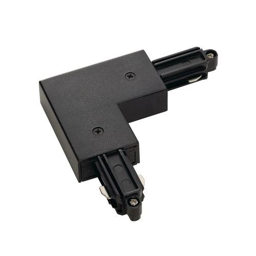 Marbel 143050 SLV 1PHASE-TRACK, L-коннектор с разъёмом питания, 16А макс., GND по внешнему углу, черный
