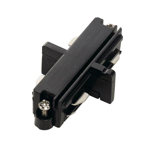 Marbel 143090 SLV 1PHASE-TRACK, коннектор прямой внутренний электрический, черный