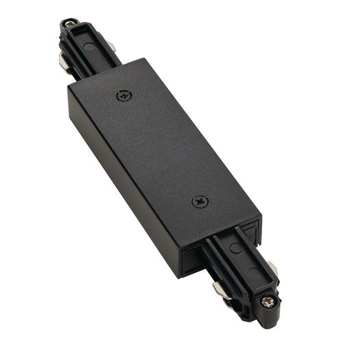 Marbel 143100 SLV 1PHASE-TRACK, коннектор прямой с разъёмом питания, 16А макс., черный